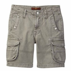 Boys 7FAM grey cargo shorts